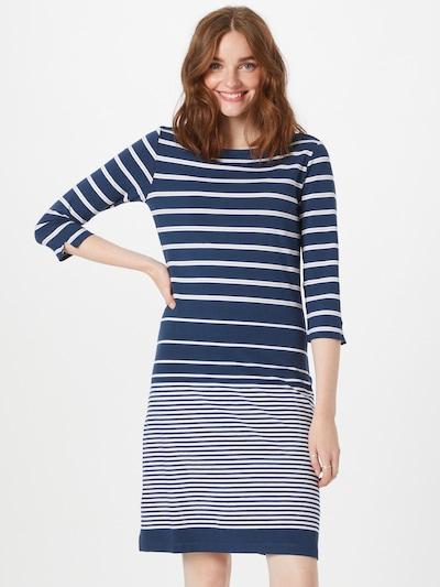 TOM TAILOR Kleid in hellbeige / navy / weiß, Modelansicht
