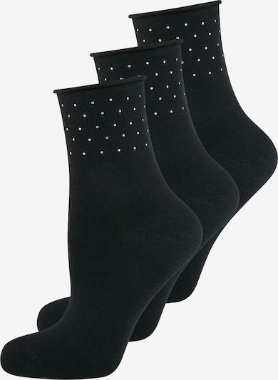 ELBEO Chaussettes ' 3-Pack Pure Sparkle ' en noir, Vue avec produit
