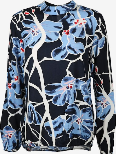 Rich & Royal Bluse in hellblau / dunkelblau / weiß, Produktansicht