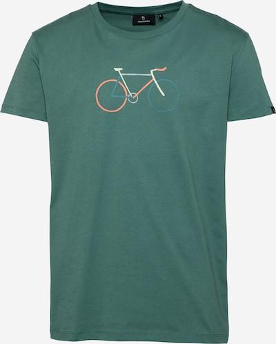 Tricou '#BIKE' recolution pe crem / albastru deschis / verde petrol / verde smarald / corai, Vizualizare produs