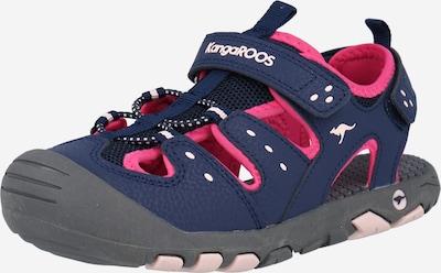 KangaROOS Avonaiset kengät värissä laivastonsininen / vaaleanpunainen, Tuotenäkymä
