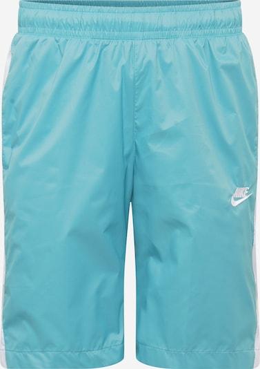 Nike Sportswear Shorts in hellblau / weiß, Produktansicht
