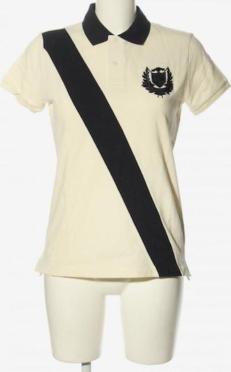 RALPH LAUREN Kurzarm-Bluse in M in schwarz / wollweiß, Produktansicht