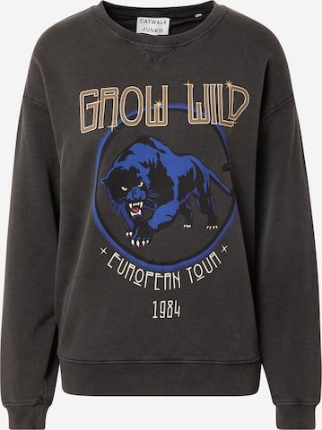 CATWALK JUNKIE Sweatshirt 'Grow Wild' i grå