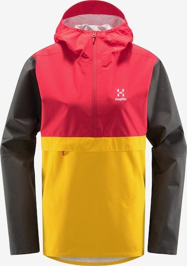 Haglöfs Outdoorjas 'Spira' in de kleur Geel / Donkergrijs / Rood / Wit, Productweergave