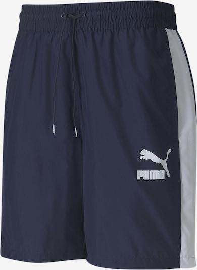 PUMA Pantalon de sport en bleu foncé / blanc, Vue avec produit