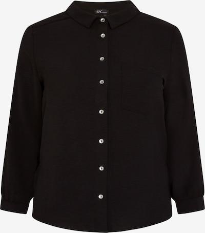 SPGWOMAN Hemdbluse BASIC BLUSE in schwarz, Produktansicht