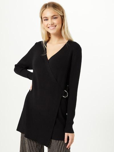 OBJECT Pletena jopa | črna barva, Prikaz modela