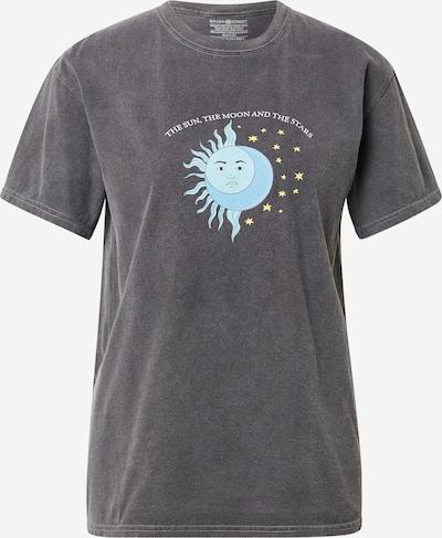 Daisy Street Tričko 'TYLER' - svetlomodrá / sivá melírovaná / biela: Pohľad spredu