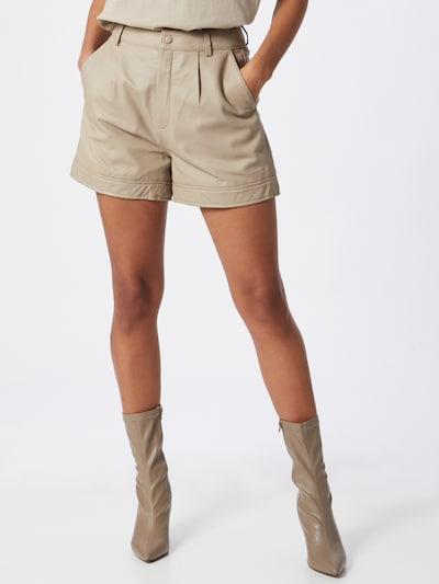 Gestuz Kalhoty se sklady v pase 'Nioa' - béžová, Model/ka