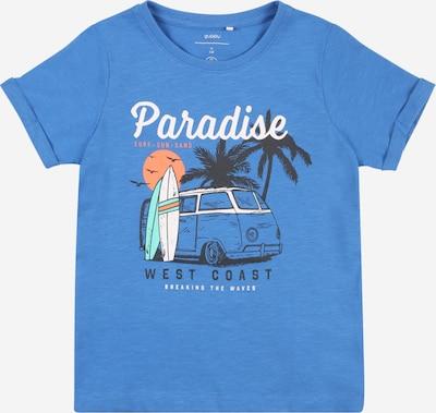 Guppy T-Shirt 'HEKTOR' en bleu nuit / bleu chiné / menthe / orange / blanc, Vue avec produit