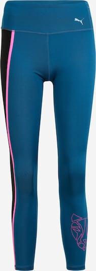 PUMA Sportbroek in de kleur Blauw / Lichtroze / Zwart, Productweergave