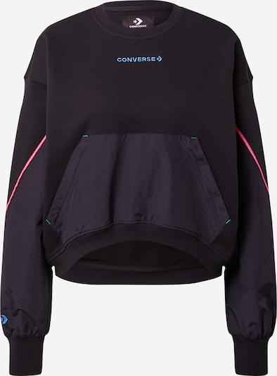CONVERSE Sweatshirt 'TERRAIN' in aqua / pink / schwarz, Produktansicht