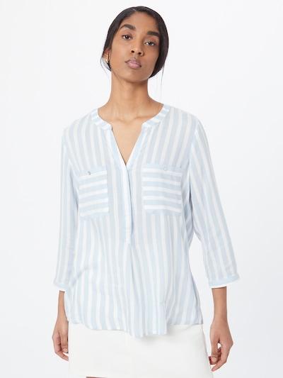 Bluză TOM TAILOR pe albastru deschis / alb, Vizualizare model