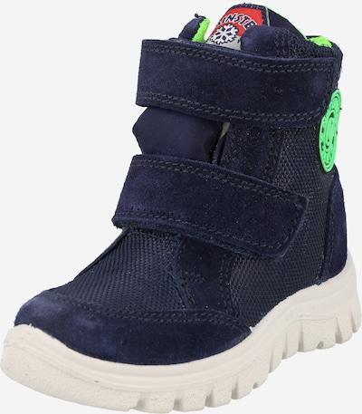 NATURINO Stiefel in navy / grün, Produktansicht