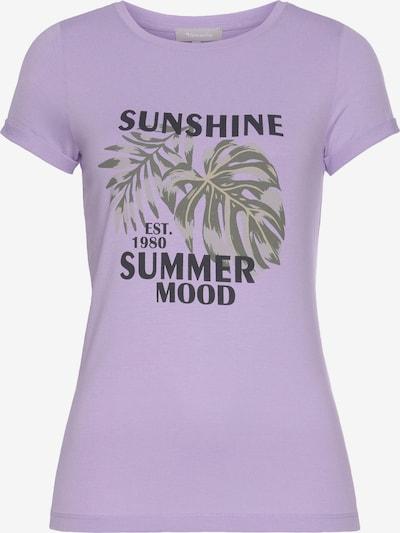 TAMARIS T-Shirt in grün / flieder / schwarz, Produktansicht