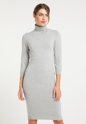 usha BLACK LABEL Knitted dress in Grey