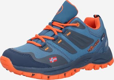 TROLLKIDS Lage schoen 'Rondane' in de kleur Donkerblauw / Grafiet / Jade groen / Sinaasappel, Productweergave