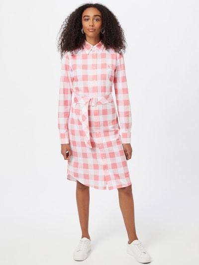 POLO RALPH LAUREN Košilové šaty 'HEIDI' - pink / bílá, Model/ka
