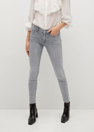 MANGO Jeans 'Kim' in grey denim, Modelansicht