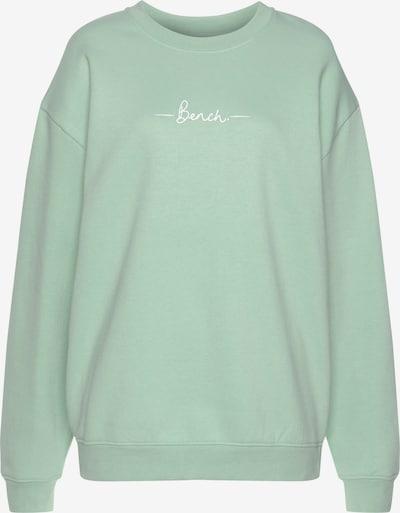 BENCH Sweatshirt in mint / weiß, Produktansicht