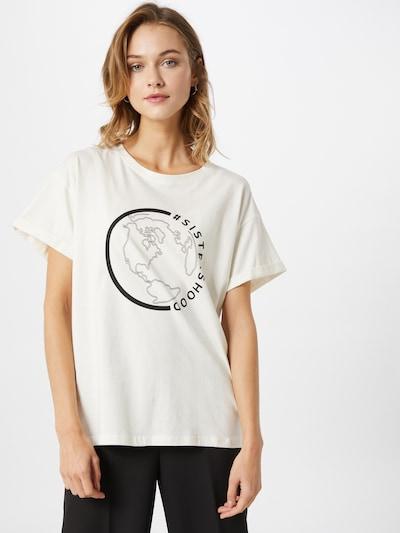 SISTERS POINT Koszulka w kolorze czarny / białym: Widok z przodu