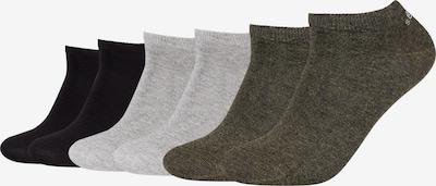 s.Oliver Sneakersocken in grau / oliv / schwarz, Produktansicht