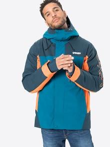 OAKLEY sportska jakna u plavoj / tamnoplavoj in blau / narančastoj boji