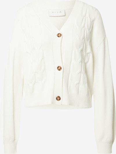VILA Strickjacke 'RIL' in weiß, Produktansicht