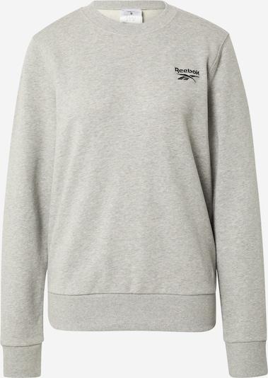REEBOK Sportsweatshirt in hellgrau / schwarz, Produktansicht