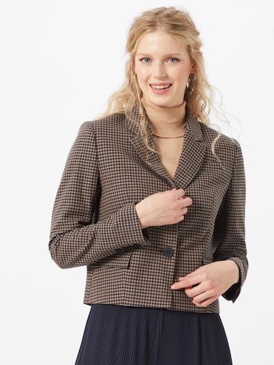 SELECTED FEMME Blazer 'Lauren' in beige / dunkelblau / dunkelbraun, Modelansicht