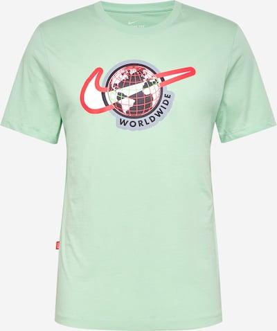 Sportiniai marškinėliai iš NIKE , spalva - šviesiai žalia / raudona / juoda / balta, Prekių apžvalga