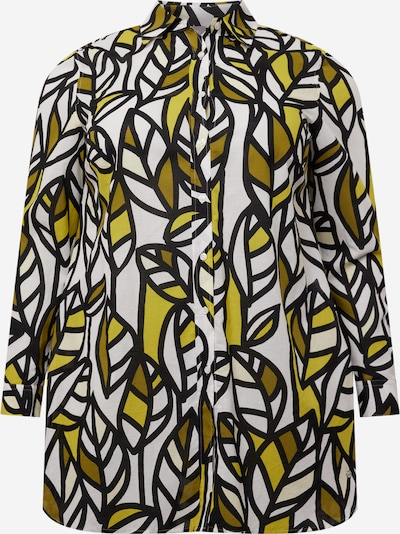 SAMOON Bluse in oliv / schilf / schwarz / weiß, Produktansicht