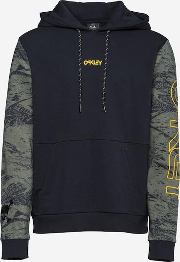 OAKLEY Спортен блузон с качулка в Каки / оранжево / черно, Преглед на продукта