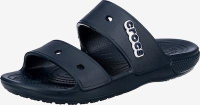 Crocs Pantolette in dunkelblau / weiß, Produktansicht