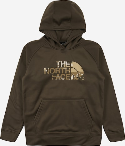 THE NORTH FACE Sportsweatshirt in beige / khaki / weiß, Produktansicht