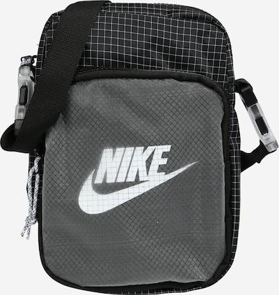 Nike Sportswear Schoudertas 'Heritage 2.0' in de kleur Donkergrijs / Zwart / Wit, Productweergave