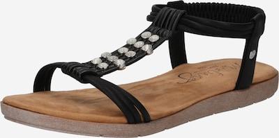 MUSTANG Sandale in schwarz / silber, Produktansicht