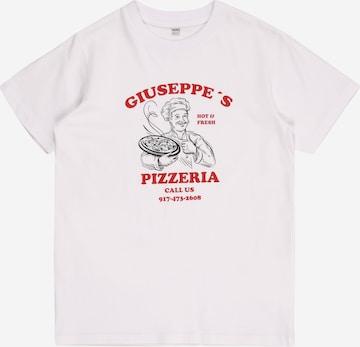 Mister Tee Shirt 'Giuseppes Pizzeria' in Weiß
