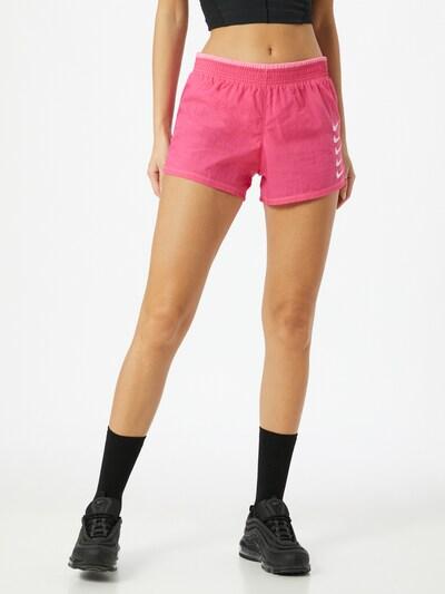 NIKE Sportovní kalhoty - pink / světle růžová / bílá: Pohled zepředu