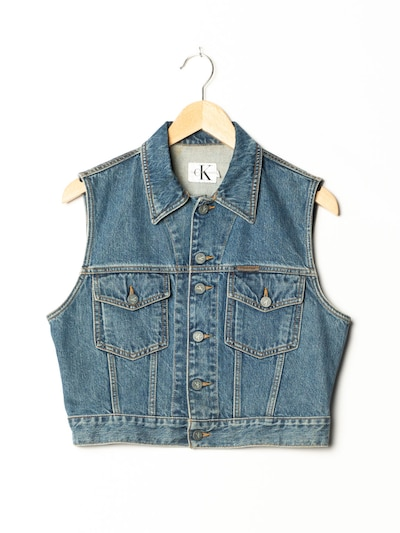 Calvin Klein Vest in S-M in Blue denim, Item view