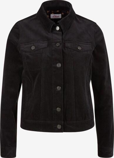 s.Oliver Lässige Jacke aus Feincord in schwarz, Produktansicht