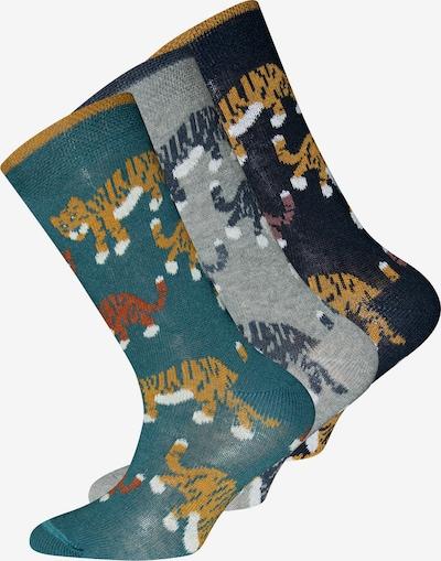 EWERS Socken in nachtblau / hellbraun / grau / jade / mischfarben, Produktansicht