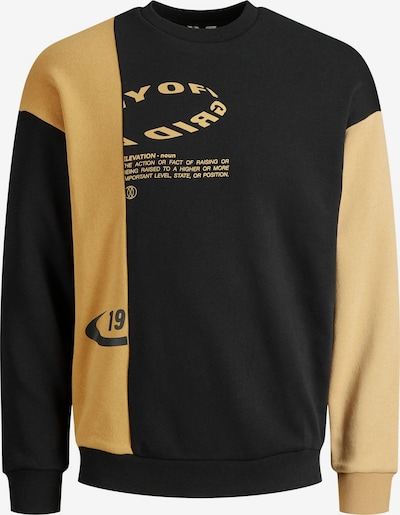 JACK & JONES Sweat-shirt 'Omash' en jaune / jaune clair / noir, Vue avec produit