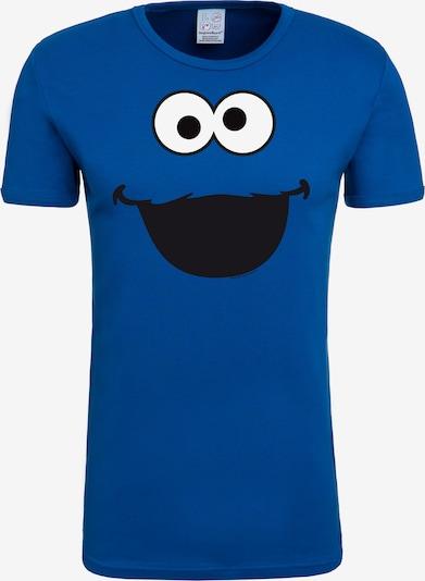 LOGOSHIRT T-Shirt 'Cookie Monster – Face' in blau / mischfarben, Produktansicht
