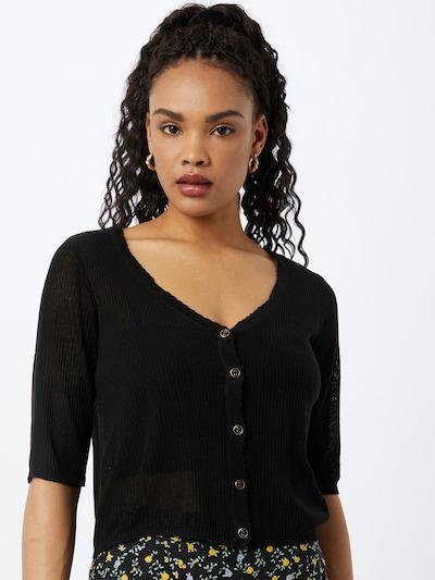 VILA Strickjacke 'WOLA' in schwarz, Modelansicht