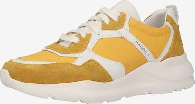 MAHONY Baskets basses en jaune / blanc, Vue avec produit