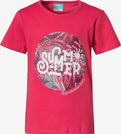 BEjO T-Shirt 'Nami II' in mint / pitaya / weiß, Produktansicht