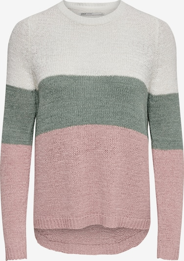 ONLY Sweater 'Geena' in Green / Pink / White, Item view