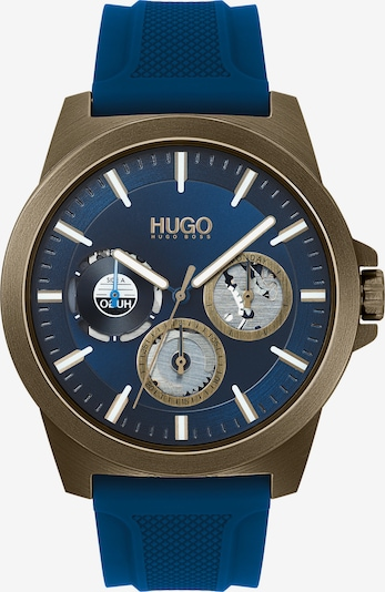 HUGO 'Analoguhr' in blau, Produktansicht